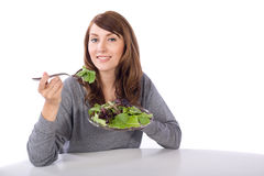 Woman eating a salad Royalty Free Stock Image