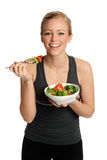 Woman Eating Salad Stock Image