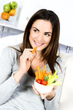 Woman eating salad. Stock Photography