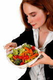 Woman eating salad. Stock Photography
