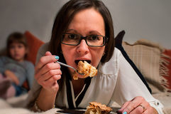 Woman Eating Stock Images