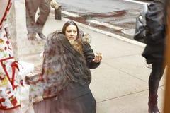 Woman eating on Stock Image