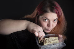Woman eating Royalty Free Stock Images