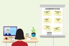 Woman is educating in Leadership Skills vector Stock Image