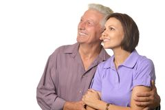Woman  and  elderly man Stock Photos