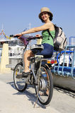 Woman with electric bike Royalty Free Stock Image