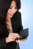 Woman and electronic organizer Royalty Free Stock Photos
