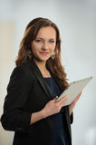 Woman With Electronic Tablet Stock Photography