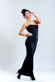 Woman in elegant black dress Stock Photography