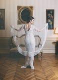 Woman in elegant dress Royalty Free Stock Photos