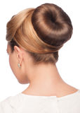 Woman with elegant hair bun Royalty Free Stock Photography