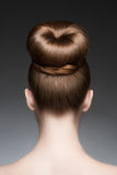 Woman with elegant hairstyle stock photography