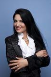 Woman in elegant shinny suit Stock Image