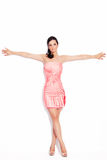 Woman in elegant short dress Royalty Free Stock Image