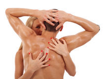 Woman embracing her lover Stock Photography