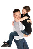 Woman Embracing Man Royalty Free Stock Images