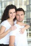 Woman embracing man Stock Image