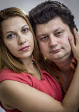 Woman embracing man Stock Images