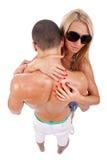 Woman embrasing man Royalty Free Stock Image