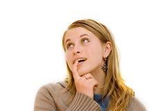 Woman emotion Stock Image
