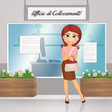 Woman in the employment office Stock Images