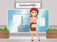 Woman in the employment office Stock Photos