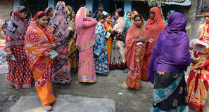 Woman Empowerment. Rural women gathering for Micro Finance project of Bandhan.Bandhan (meaning togetherness) was born in 2001 under the leadership of Mr. Chandra Stock Photography