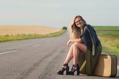 Hitchhiking. royalty free stock photos