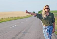 Hitchhiking. stock photography