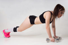 Woman engaged in fitness. Royalty Free Stock Images