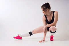 Woman engaged in fitness. Stock Photography