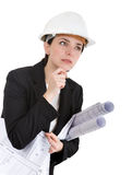 Woman engineer. Royalty Free Stock Photos