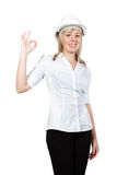 Woman engineer architect Royalty Free Stock Image