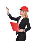 Woman engineer with clipboard Royalty Free Stock Photo