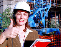 Woman engineer manager Stock Photography