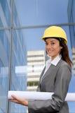 Woman engineer portrait Stock Photo