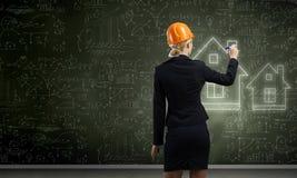 Woman engineer Royalty Free Stock Photo