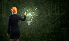 Woman engineer royalty free stock photo