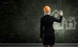 Woman engineer Royalty Free Stock Photos
