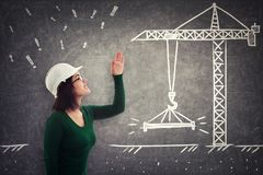 Woman engineer scolding stock photography