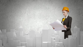 Woman engineer Royalty Free Stock Image