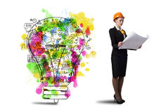 Woman engineer Royalty Free Stock Photography