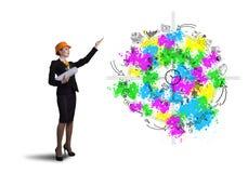 Woman engineer Stock Image