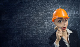 Woman engineer Stock Photography