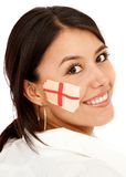 Woman with the english flag Stock Images