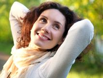 Woman enjoy Stock Image