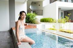 Woman enjoy her spa Stock Photos