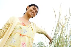 Woman enjoy nature Stock Photos
