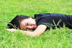 Woman enjoy nature Royalty Free Stock Photography