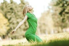 Woman enjoy nature Stock Photos